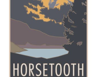 Horsetooth Rock and Reservoir Poster
