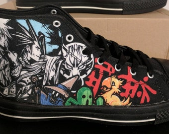 Final Fantasy Sneakers - Gamer Gifts - Final Fanasty Converse Style High Top Shoes