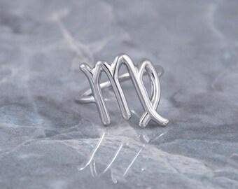 Virgo Ring, Zodiac Sign Jewelry, Zodiac Ring, Astrology Sign Jewelry, Horoscope Ring, Zodiac Sign Ring, Astrology Sign Ring, Silver Ring