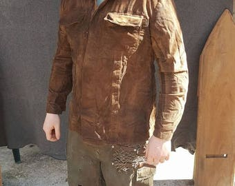 Distressed Corduroy Jacket