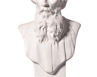 Russian Writer Leo (Lev) Tolstoy Marble Bust / Statue 14cm (5.5'') white
