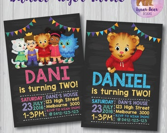Daniel Tiger's Neighborhood Invitation, Daniel Tiger's Neighorhood Birthday, Daniel Tiger Invitation, Daniel Tiger Invite Daniel Tiger Party