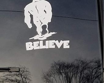Sasquatch Believe Etsy - Unique car window decals