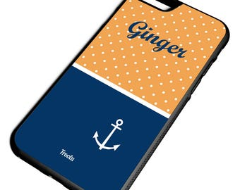 iPhone 7 Anchor Case - 7 Plus Monogram Case - Best iPhone 7 Case - iPhone 6S Case - 6S Case for girls Cute iPhone Cover -Gift for Girlfriend