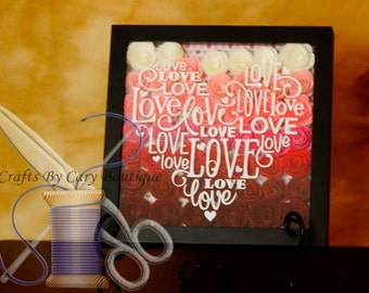 Rose Love Shadow Box