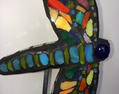 Mosaic Colorful Dragonfly Garden Art