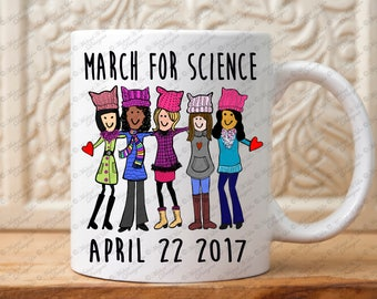March for Science mug, March for truth, Science March, Climate March mug, Global warming mug, Science Mug,Womens march for science