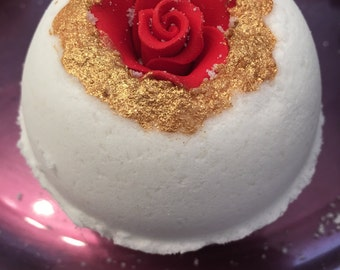 Rose bath Bomb with surprise necklace inside or ring