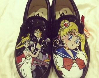 Custom painted Sailor Moon Vans
