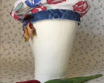 Handmade Repurposed Cotton Vintage Linens Hat
