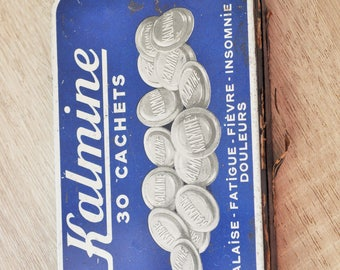 Box advertising Tin old kalmine 30 pills
