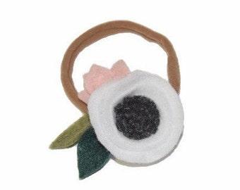 Flower Blossom Headband / Small / White