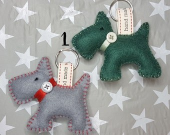 Felt Scotty Dog Keychain
