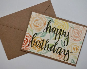 Happy Birthday  Blank Inside Card