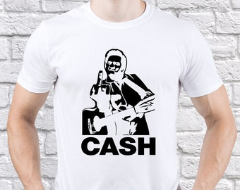 Johnny Cash/ Middle Finger/ men tshirt/ Johnny Cash fan/ Johnny Cash gift/ Johnny Cash shirt/ Any Occasion Gift/ American Classic tee/(JC01)