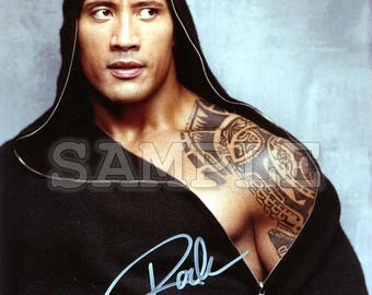 Dwayne Johnson signed 8x10 Autograph RP - Great Gift Idea! - Ready to Frame photo picture