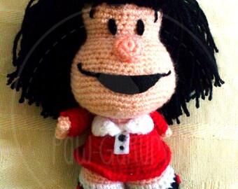 Mafalda - 14 cm (6 inches) amigurumi