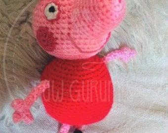 Amigurumi Tutorial Peppa Pig : Amigurumi peppa pig etsy