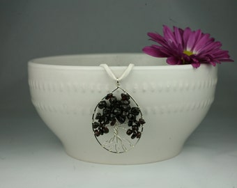 Garnet and Silver Tree of Life