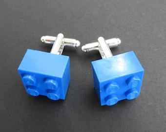 Lego cuff links - Blue