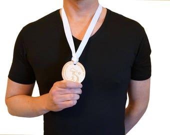 Custom medals x10 x100, Customize medals with your logo engraved, Custom medals sport race events lasercut wood plexiglas - SET 10PZ, 100PZ