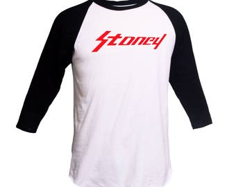 Stoney Shirt Post Malone Stoney 3/4 Sleeve Raglan Stoney Crewneck Stoney Post Malone Shirt  Hoodie Hip Hop Sweatshirt White Iverson