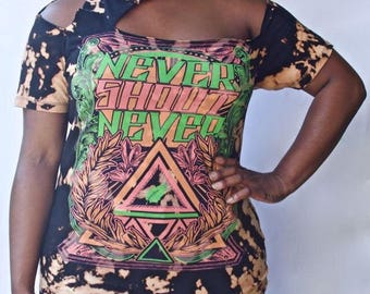 Never Shout Never Cut Out Tee (Small)