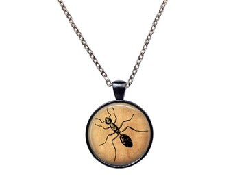 Ant pendant Insect necklace Nature amulet