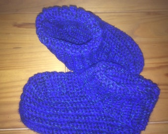 Self-crocheted socks size 43