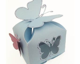 Butterfly Petal Truffle Box Template svg and Silhouette Cameo file For Die Cutters
