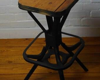 Evertaut machinist industrial stool office desk kitchen interior design chair vintage retro