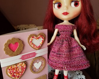 Beautiful, Off-the-Shoulder Knit Dress for Blythe