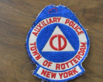 Vintage 1950s Civil Defense Auxiliary Police sleeve patch
