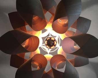 wood veneer lighting. the lotus wood veneer light shade lighting 2