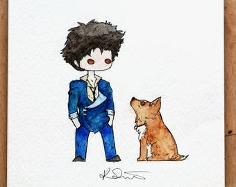 Cowboy Bebop - Spike and Ein Print
