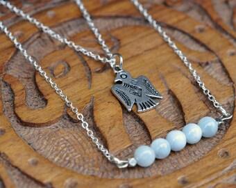 Aquamarine Phoenix Dream Necklace