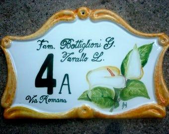 ceramic house number plaque