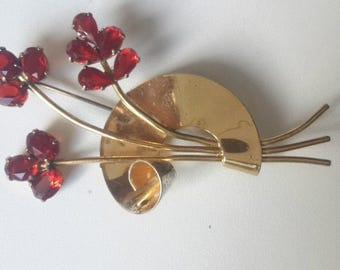 CORO  Brooch with beautiful stones