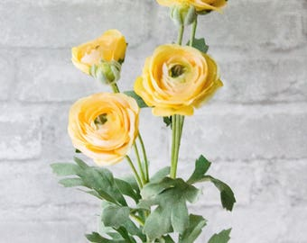 Yellow Ranunculus Flower Bunch