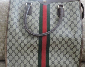 Authentic 1970s Vintage Gucci Shopper Tote