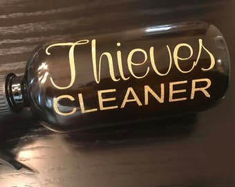 Glitter Vinyl Thieves label