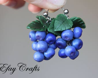 Earrings Blueberries
