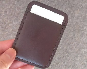 Front Pocket Leather Wallet With Two Compartment, Card Holder, Leather Card Holder, Horween, Chromexcel, Leather Wallet Men