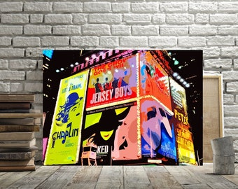 Broadway Times Square Wall Decor Print Or Canvas Broadway Musical Art Wicked