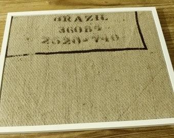 Burlap bulletin board- Brazil