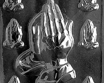 R031 Assorted Praying Hands Chocolate Candy Soap Mold