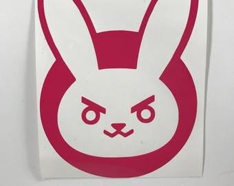 D.Va Pink Vinyl Decal