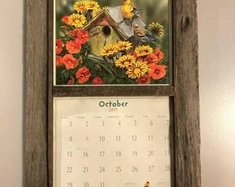 Calendar Frame Family Organizer Storage Shelf And Keyhook