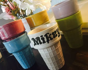 Personalized Ice Cream Cups