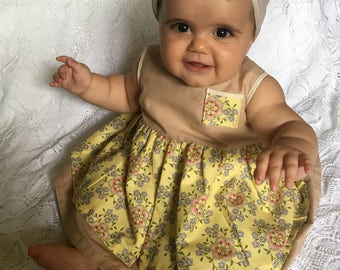 Baby Girl Dress and Bloomers Set